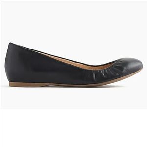 J. Crew Black Leather Ballet Flats